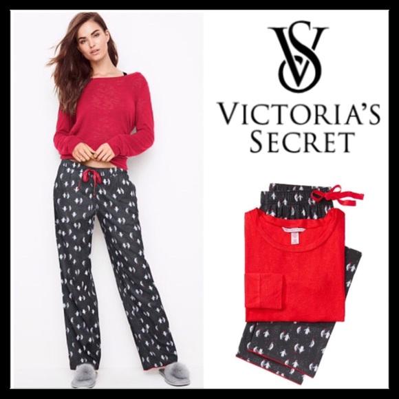 273f705e37 Victoria s Secret The Lounge PJ Set Party Penguin
